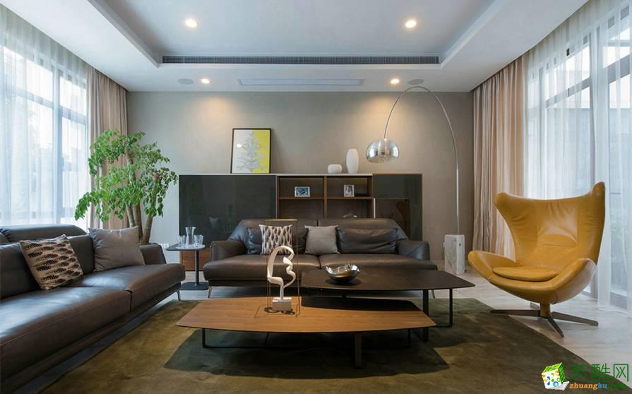 重庆160平米现代风格四居室装修案例图片