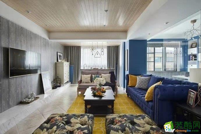 茅莱山居160平米混搭风格别墅住宅设计案例图片