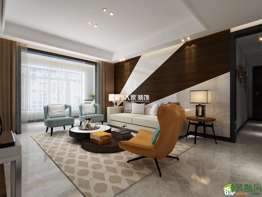 西安曲江香都-113平米現代風格三室一廳裝修效果圖