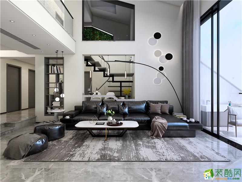 海口150平米现代简约风格跃层住宅装修案例图片