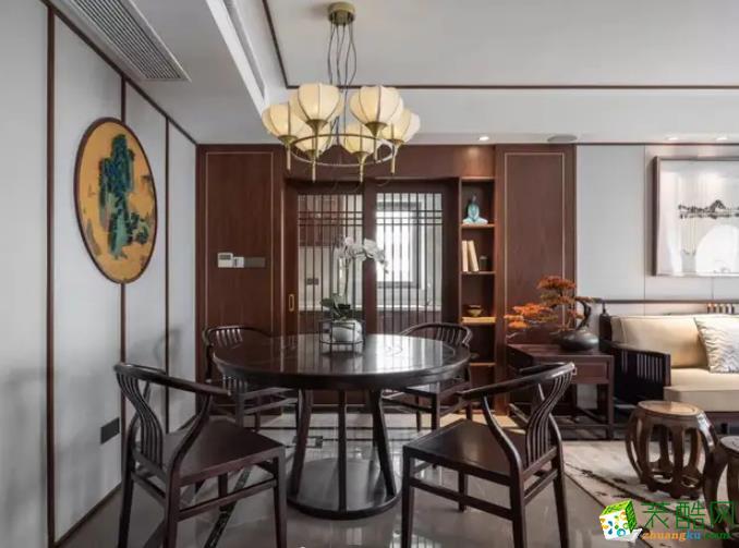 西安龙记玖玺-170平米中式风格三室两厅一卫装修效果图
