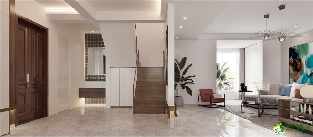 西安春天花园-200平米现代风格复式楼装修效果图