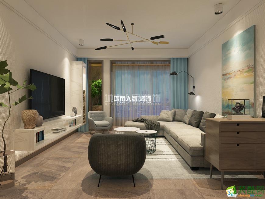 西安中航华府-90平米现代简约三室一厅一卫装修效果图