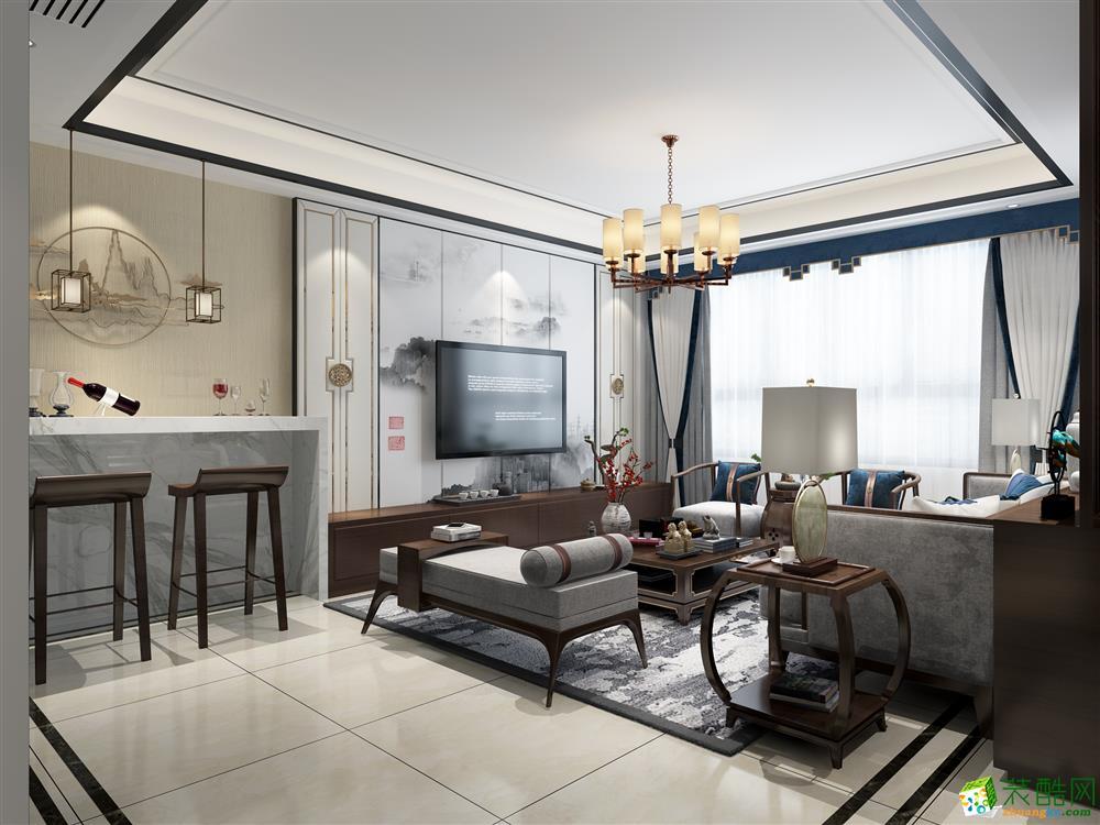 140平四居室现代新中式