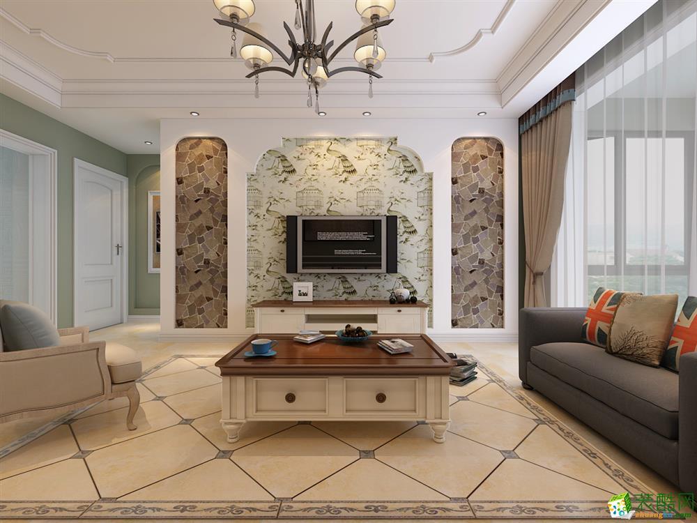 和昌都汇华府两居室地中海风格装修设计效果图