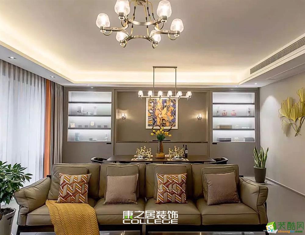 保利东湾国际230㎡别墅现代风格装修效果图