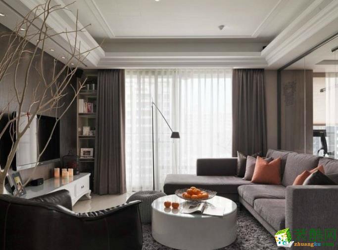 西安华远辰悦127平三室北欧简约风格装修效果图