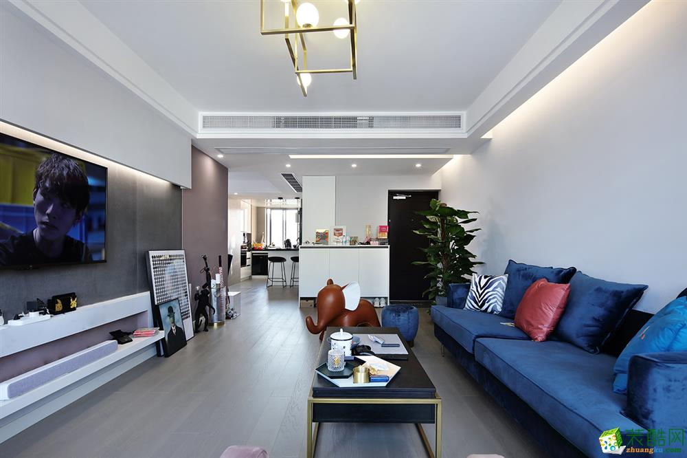 重庆130平米混搭风格四居室装修效果图