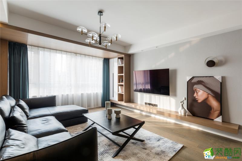 西安金地西沣公元婚房128平现代简约风格装修效果图