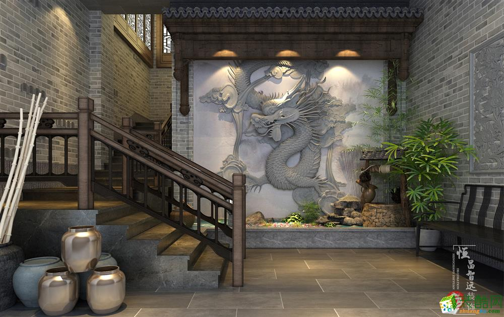 太原小龍坎飯店300平中式風格裝修效果圖