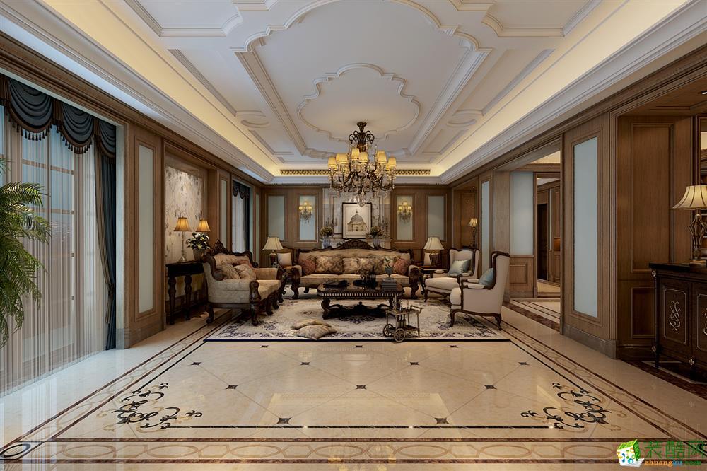 綠城玫瑰園600別墅歐式設計風格設計作品