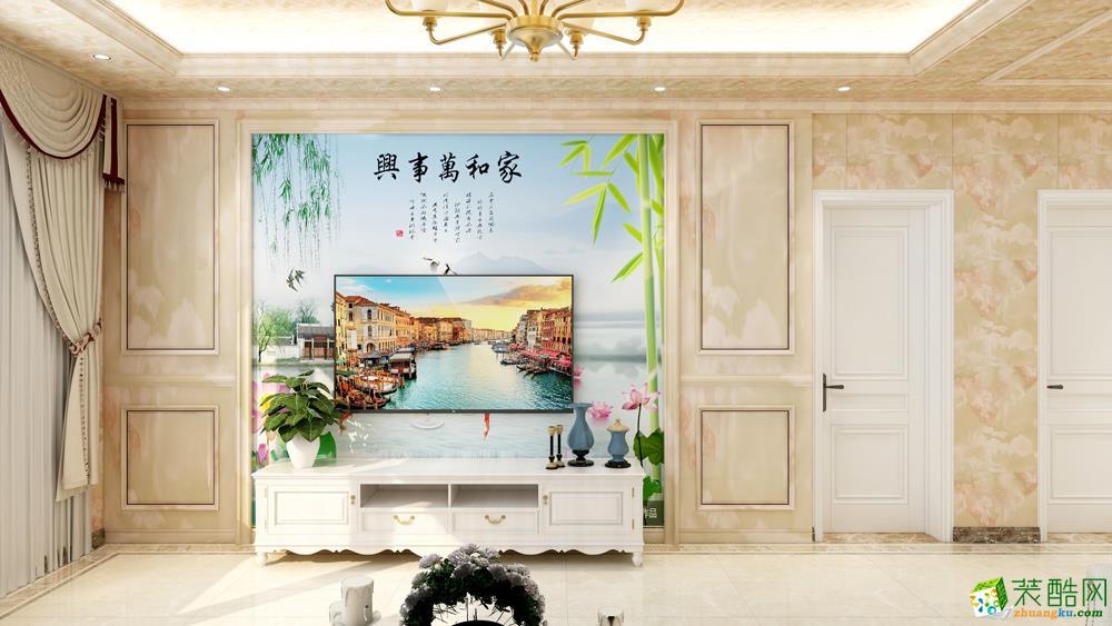 長沙86平米4室1廳歐式風格裝修效果圖