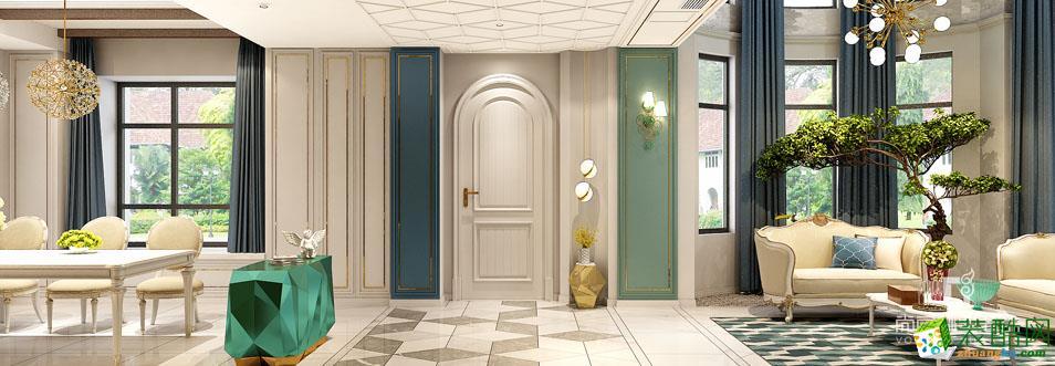 别墅装修-300平米简约美式风格装修效果图