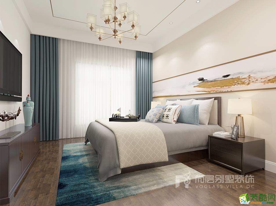 静谧风华的顶跃别墅装修-180平米中式风格装修效果图