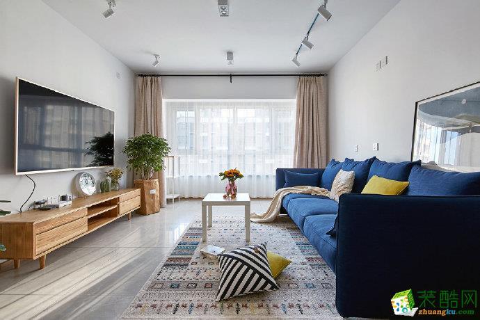 重庆85㎡简约现代风两居室装修案例图