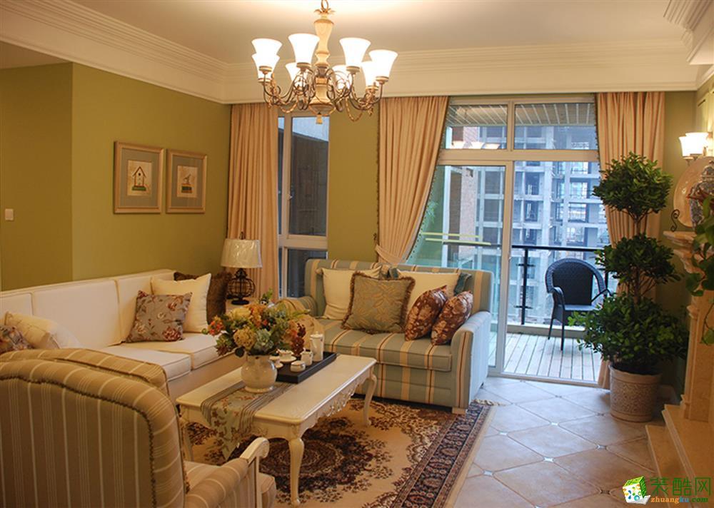 成都89平米田園風格三居室裝修案例圖片