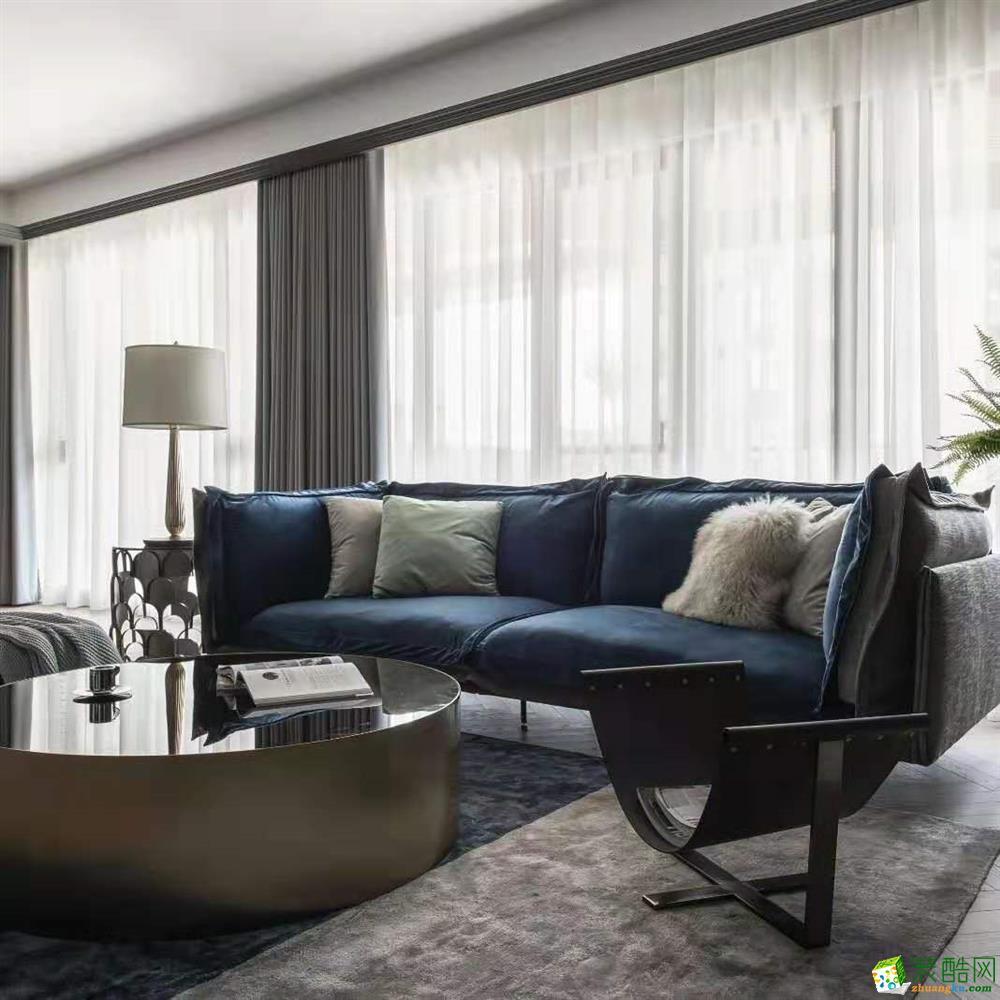 重庆116平米美式混搭四居室装修效果图