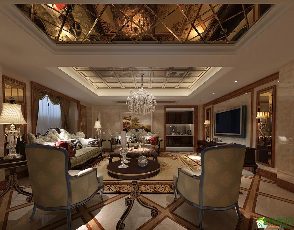 广州443平米中式风格别墅装修案例图片