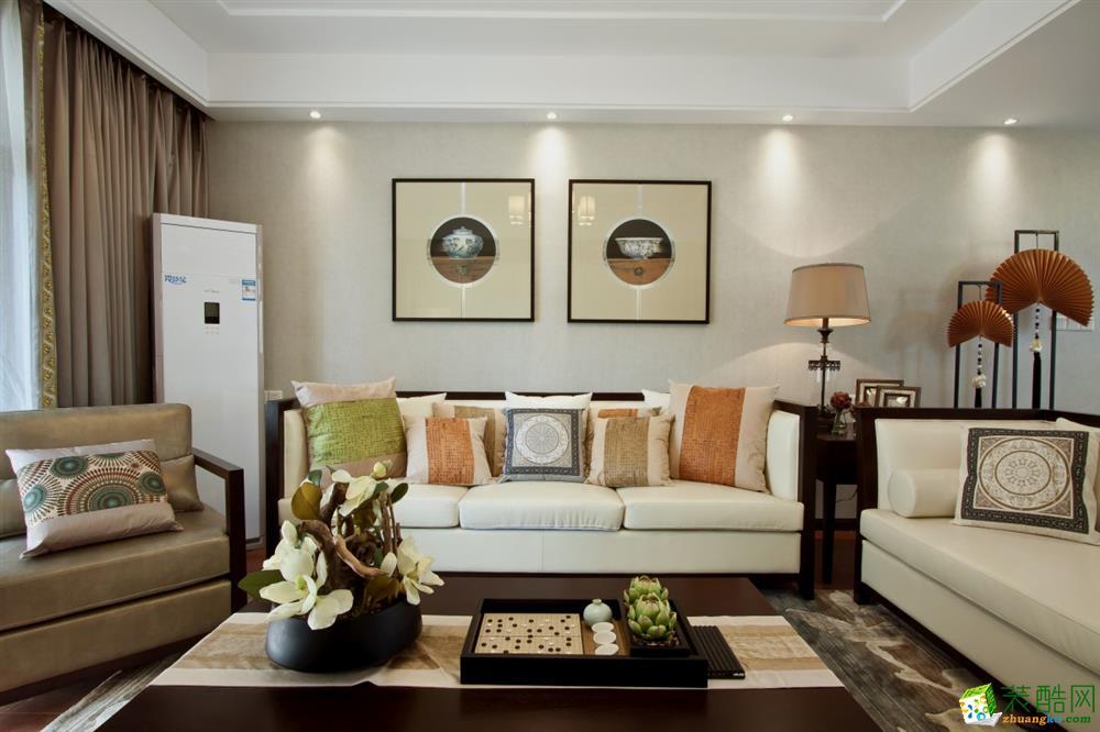天津11㎡两室一厅中式风格设计案例