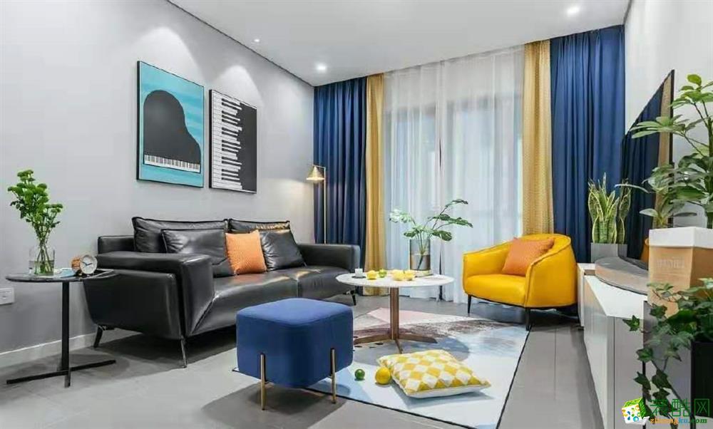 100平現代簡約裝修效果圖_現代風格-三室兩廳一衛