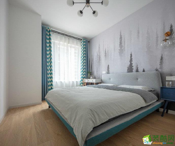 西安雅居乐-115平米混搭风格三室一厅一卫装修效果图