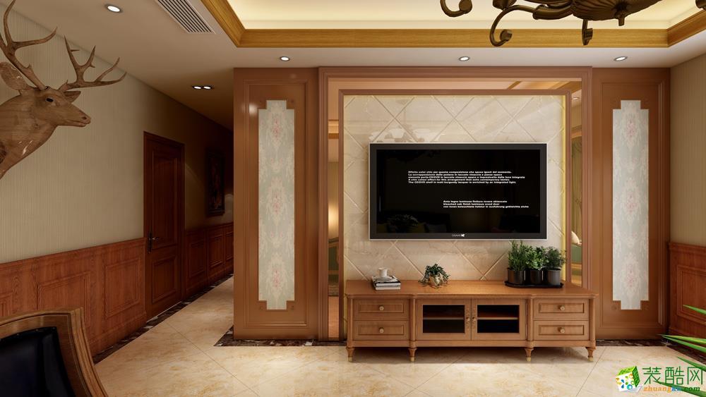119平米3室2廳1櫥2衛美式風格效果圖_美式風格-三室兩廳兩衛