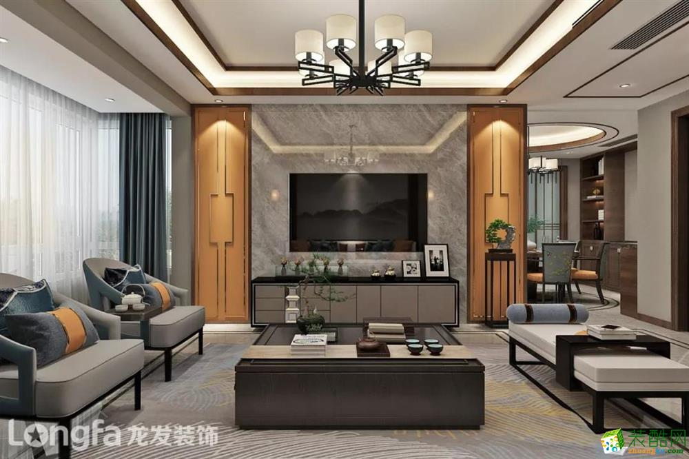 龙发|190平米新中式风格案例鉴赏