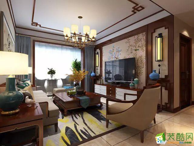 枣庄城市人家装饰  中梁首府129平新中式风格装修效果图