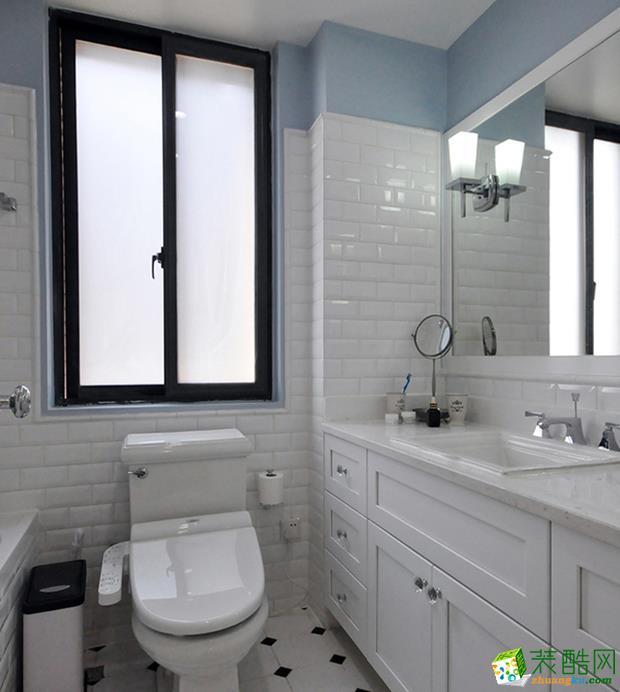西安114平米美式风格三室两厅两卫装修效果图