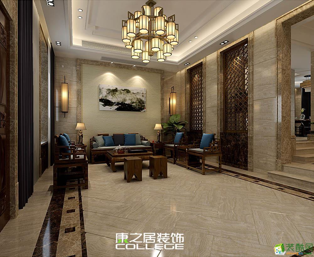藍光雍錦半島187平米新中式風格裝修效果圖
