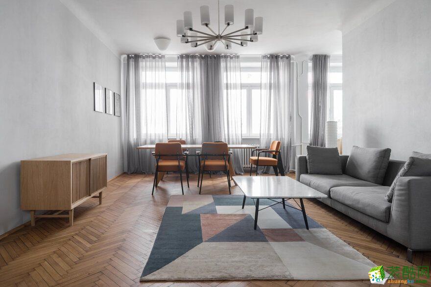 【陕西鹏池装饰】宾朋公寓90平米现代风格装修案例