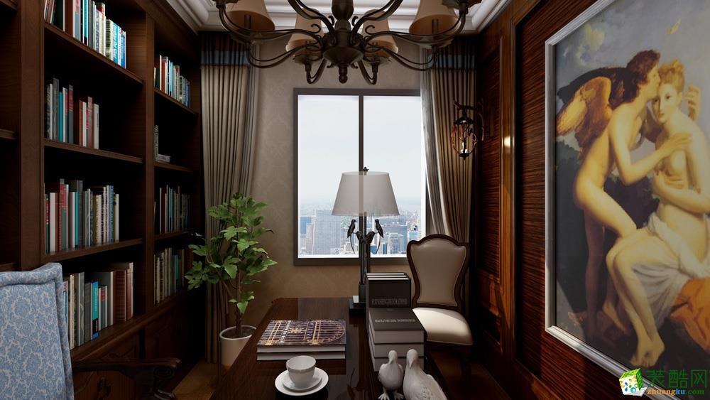 90平米2室1廳1櫥2衛美式風格效果圖