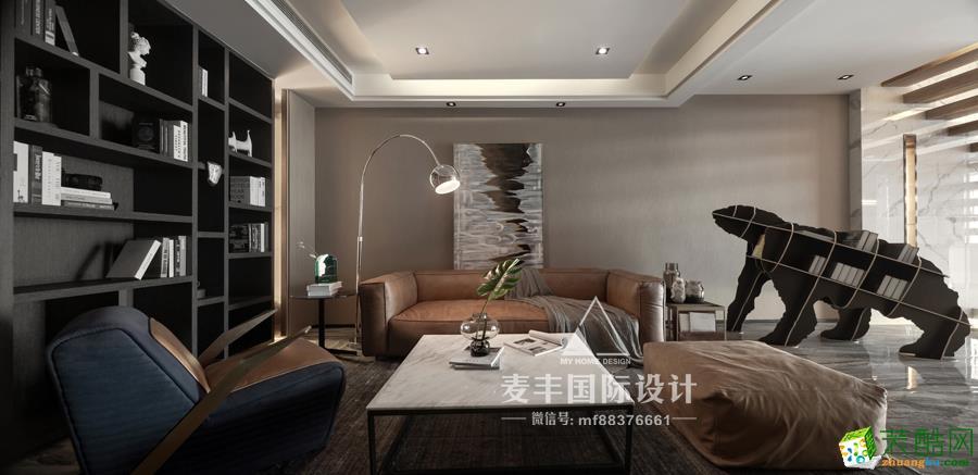 杭州140平复式住宅现代风格装修案例