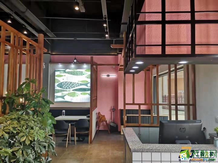 西安500平米烤魚店餐廳裝修效果圖