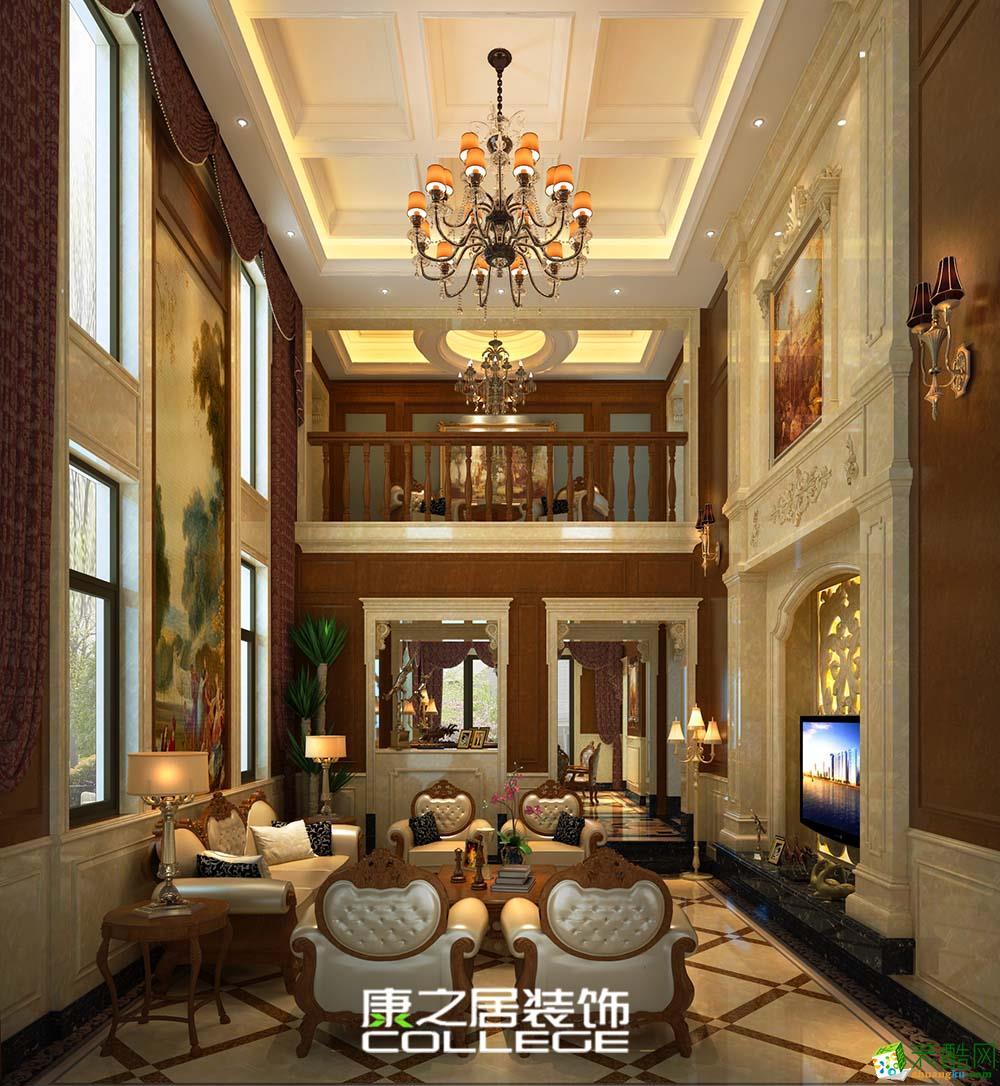 保利半山温泉谷美式新古典大户型文化与生活融合的家居设计