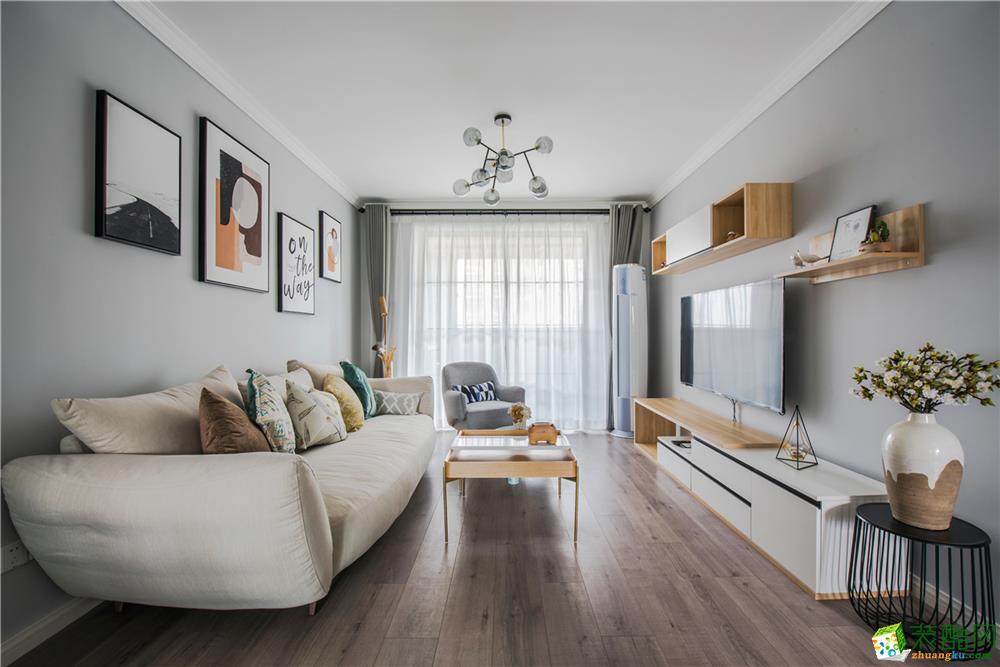 上海90平米北欧风格两居室装修效果图
