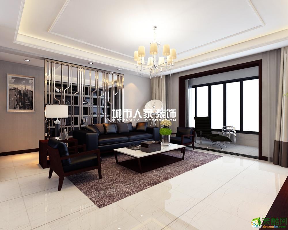 西安金輝世界城-165平米簡約風格四室兩廳兩衛裝修效果圖
