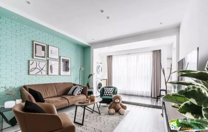 常州108平三室北欧风格装修效果图-吉宏装饰