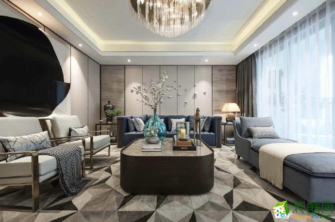 重慶125平米新中式風格兩居室裝修效果圖