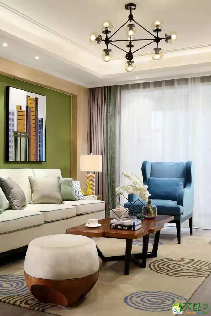 璧山95平米現代簡約三居室裝修案例圖片