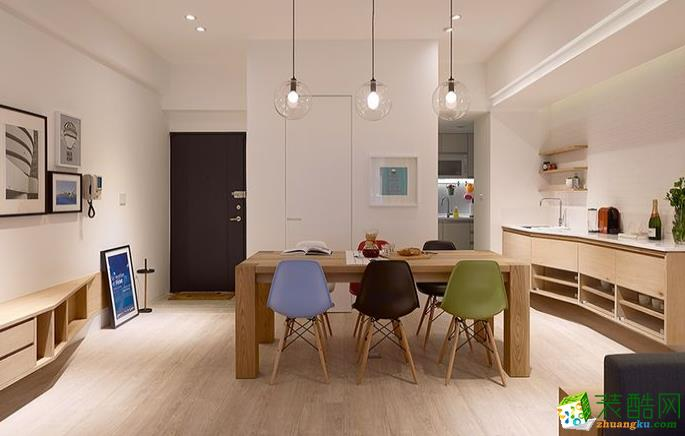 九江110平三室現代風格裝修效果圖-家誠裝飾