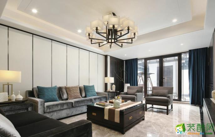 九江136平三室中式風格裝修效果圖-家誠裝飾