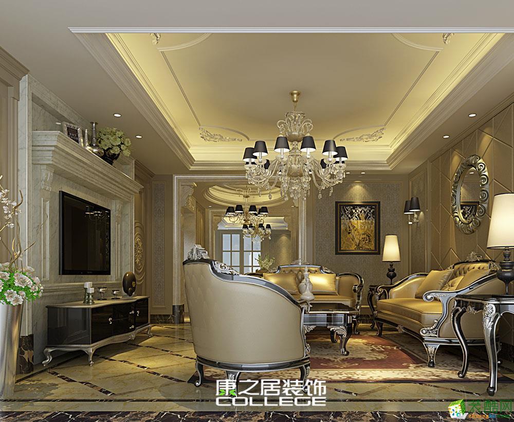 南昌融创文旅城万达城173平四居欧式新古典装修家居设计案例