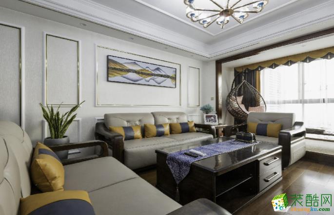 乐山134�O四室现代风格装修效果图-点石装饰