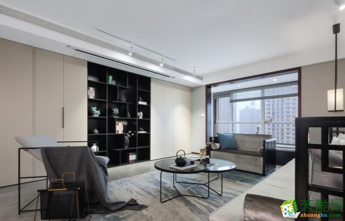 樂山136㎡三室中式風格裝修效果圖-點石裝飾
