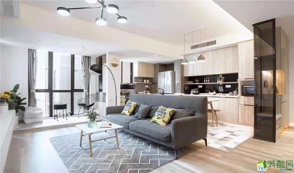 95平米三室兩廳用現代風溫暖時光