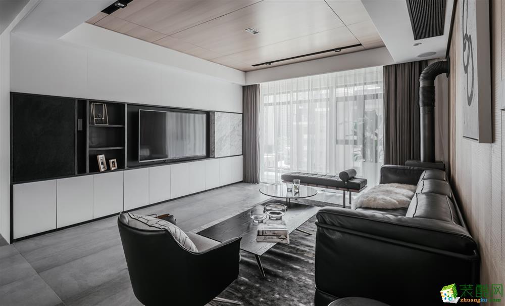 130平米現代工業風格裝修案例_現代風格-四室兩廳兩衛
