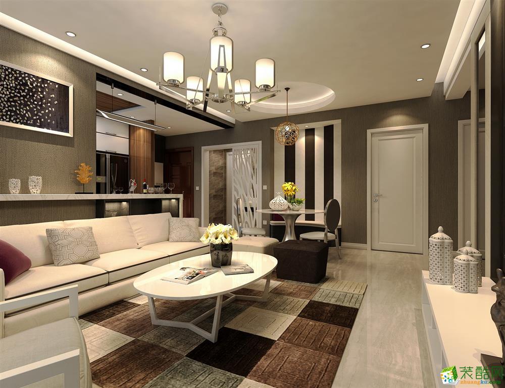 太原市華裕東區-130平米現代簡約三室兩廳兩衛裝修效果圖