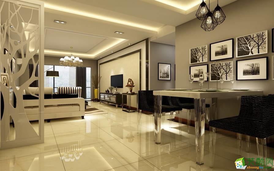 成都100平米現代風格三室兩廳裝修效果圖