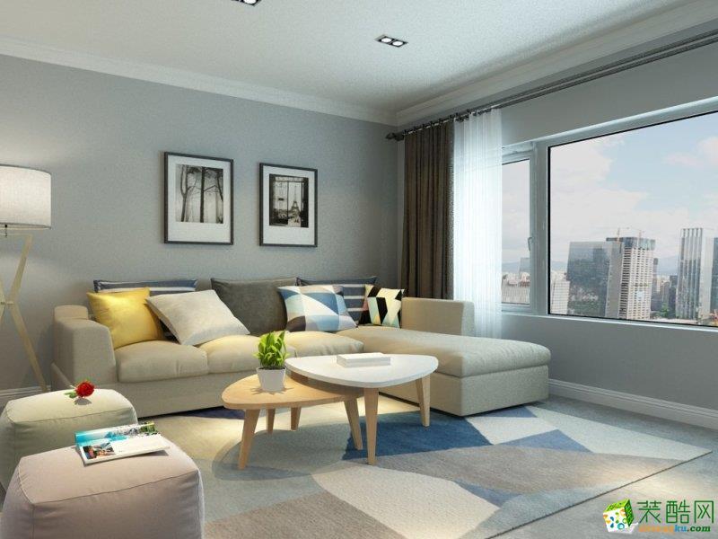 西安白桦林-140平米北欧风格三室两厅两卫跃层住宅装修效果图